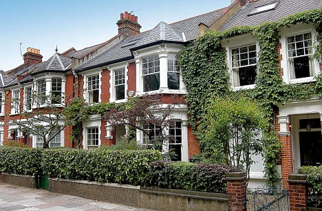 typical home in suburban London bought by a doctor with a mortgage